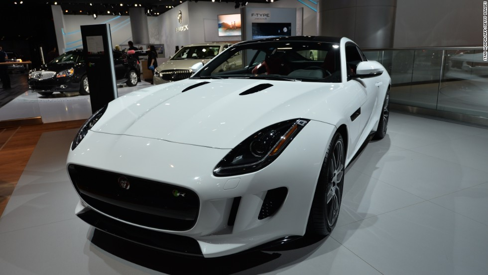 Jaguar's F-Type Coupe, seen here at its unveiling at the North American International Auto Show in January.