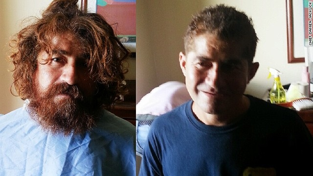 """""""Castaway"""" Jose Alvarenga after a haircut and shave, provided by Marshall Islands' Immigration Chief Damien Jacklick. The castaway washed up on a remote coral atoll in the Marshall Islands last week in a heavily damaged boat, claiming to have been lost at sea for 13 months."""
