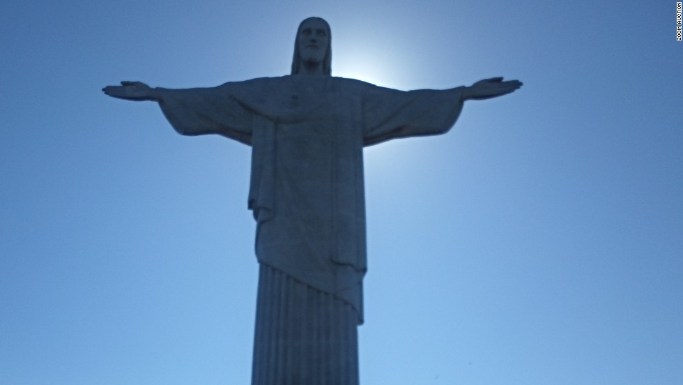 """Mercedes driver Lewis Hamilton choose a personal photo to donate to the charity auction.""""I stopped off in Rio before going to the race and visited the Christ the Redeemer statue,"""" he explains. """"These moments remind me how blessed I am to have the best job in the world."""""""