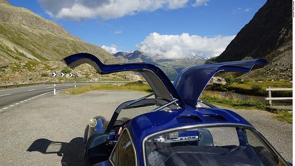 """""""I took this picture during a tour through the Swiss Alps,"""" said Sauber's Adrian Sutil. """"It combines all of my passions: nature, cars, driving, Alps, Switzerland and home. It's here that I come to restore my energy levels."""""""