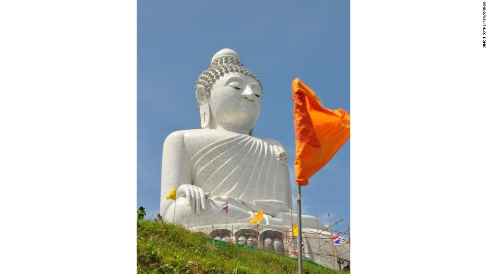 Officially called the Phra Puttamingmongkol Akenakkiri Buddha, the marble-clad Big Buddha Phuket is 45 meters high. Its hilltop location provides a 360-degree view of the island.