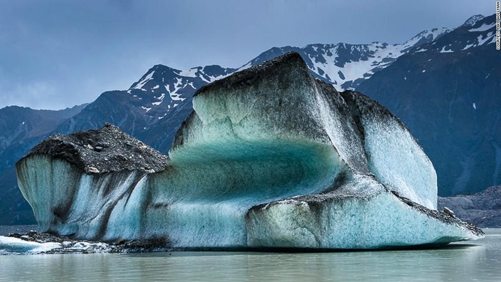 The Tasman Glacier's terminus at Tasman Lake provides extraordinary access to icebergs like these.
