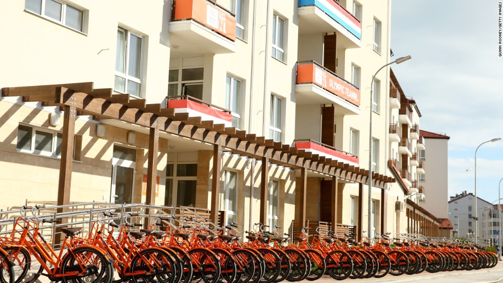 If you are Dutch, you are never very far away from a bike -- even in Sochi.