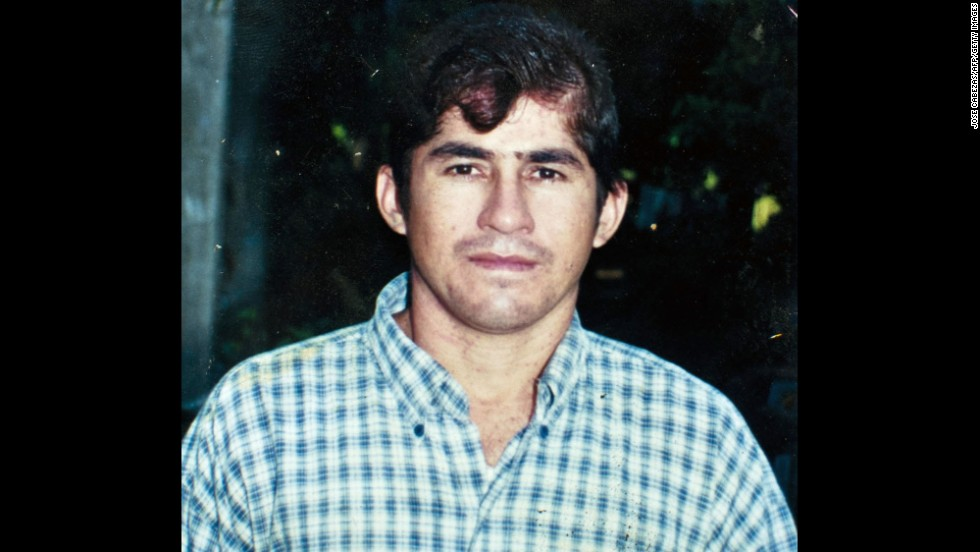 A photograph of a younger Alvarenga, shared by his father, Jose Ricardo Orellana.