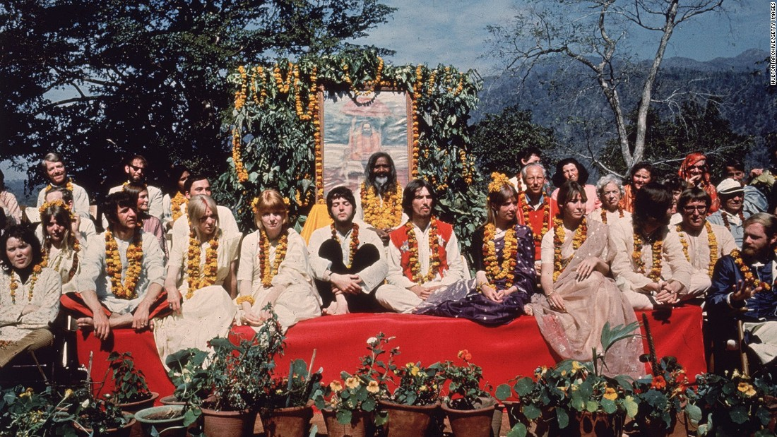 "The Beatles visited the ashram of Mahareshi Mahesh Yogi in 1968 to learn meditation. It's said that they wrote more than 40 songs during their stay, including some that were later featured on ""The White Album"" and ""Abbey Road."""