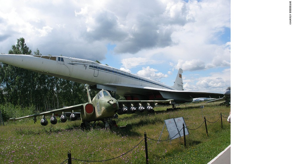 A shrine to Cold War aviation, this museum 24 miles outside Moscow is considered Russia's best. Shown are an Su25 and a Tu144.