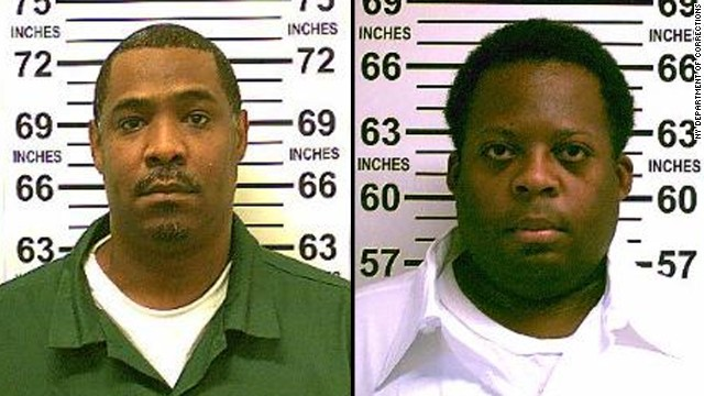 Anthony Yarbough, left,  and Sharrif Wilson were released Thursday on consent of the Brooklyn district attorney after DNA evidence suggests they did not commit the crimes they were convicted for.
