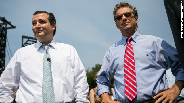 Senators Ted Cruz, left, of Texas, and Rand Paul of Kentucky.