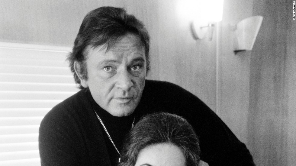 "Richard Burton and Elizabeth Taylor posed for this photograph on the set of Burton's 1971 film ""Villain.""  ""They were so publicized at that time,"" O'Neill says. ""I wanted to get a picture of them as I knew them, a loving couple."""