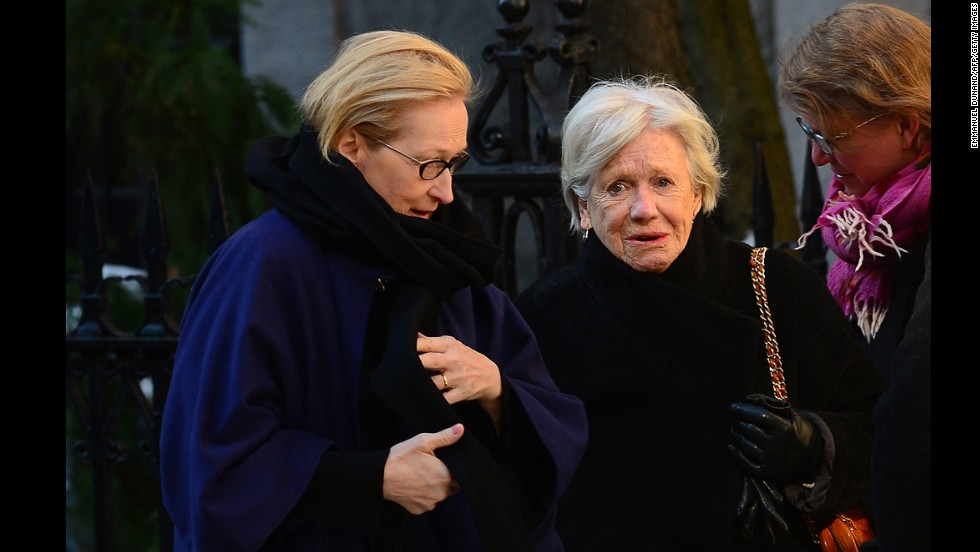 "Actress Meryl Streep, left, starred with Hoffman in ""Doubt."""