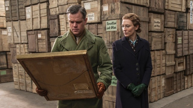 "Matt Damon and Cate Blanchett star in George Clooney's ""The Monuments Men."""