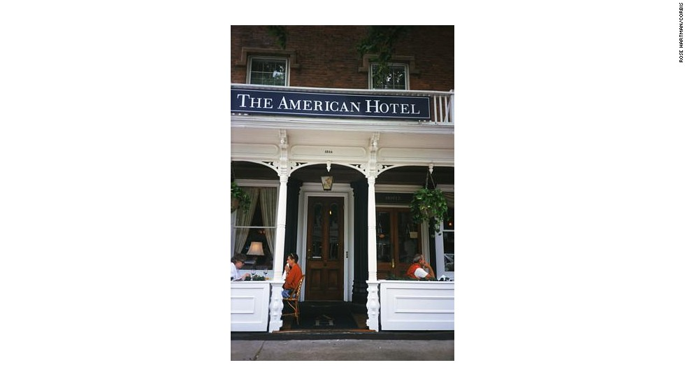 The Hamptons town of Sag Harbor is home to the romantic American Hotel, which dates back to 1846.