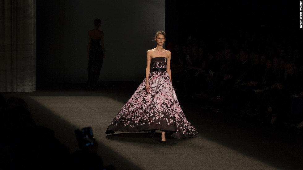 Monique Lhuillier went modern and romantic during her show on February 8. She is best known for her gowns that are synonymous with red carpet style.