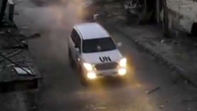 U.N. convoy attacked in Syria