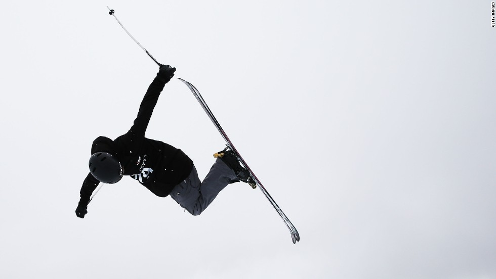 Freestyle skier Peter Crook, 21, is the only athlete from the sunny British Virgin Islands.