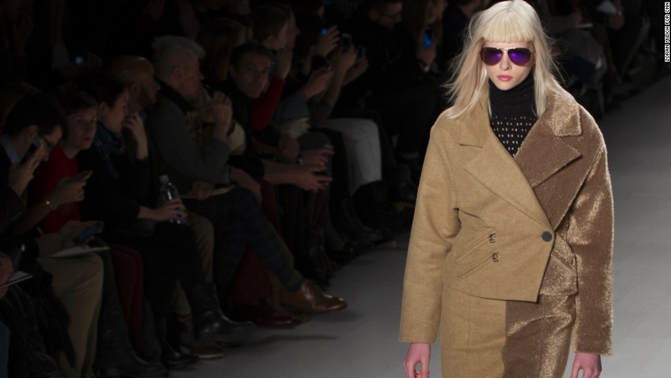 Two-toned jackets and separates were a prominent theme in Custo Barcelona's show.