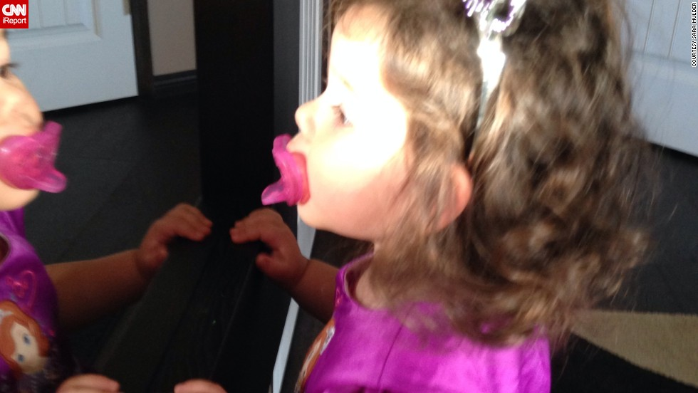 """""""Who is that beautiful girl? I really need that crown."""" -- Sofia Mulder, age 2, loves looking in the mirror, but she never realizes it's her."""