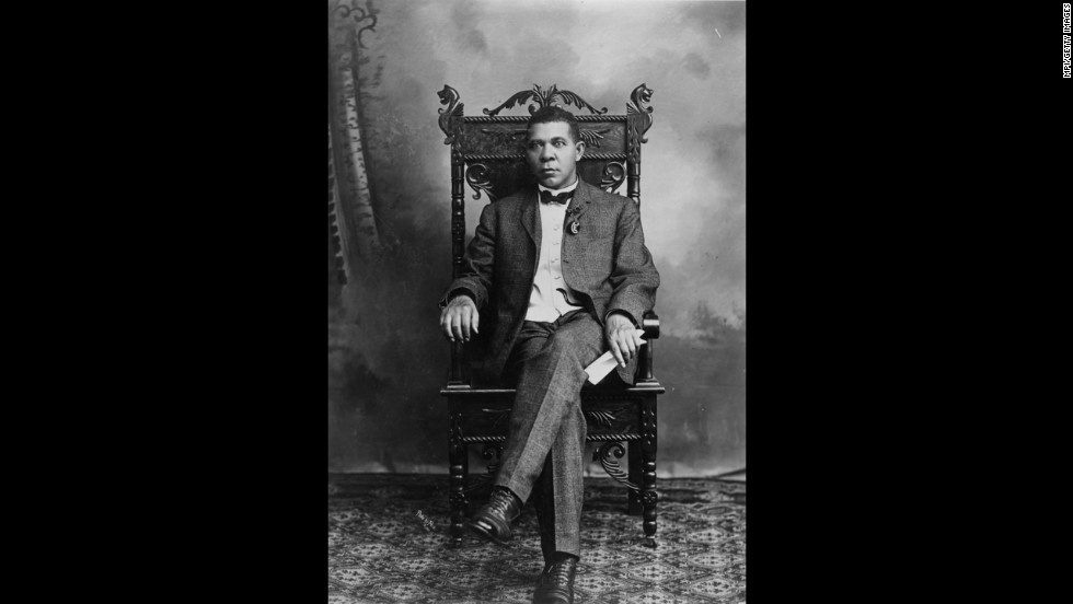 "Booker T. Washington, educator and champion of rights for blacks, was born to a black woman, Jane. She never named his white father, who <a href=""http://www.encyclopediaofalabama.org/face/Article.jsp?id=h-1506"" target=""_blank"">was said to be a nearby planter</a>."
