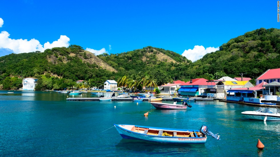 Hugging the bay of Anse du Bourg, Les Saintes archipelago is Guadeloupe's most prized possession. Inhabited Terre-de-Haut and Terre-de-Bas are a perfect blend of the old Caribbean and southern France.