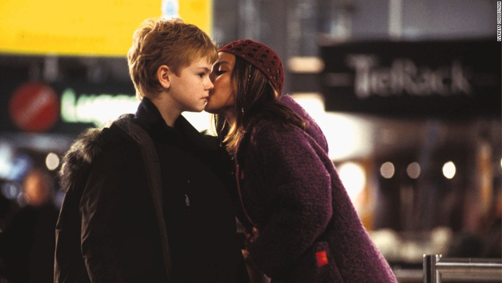"""Love Actually"" features Oscar-winning grownup stars, but the airport scene where young Sam (Thomas Sangster) runs after the departing Joanna (Olivia Olson) steals the show. Ah, young love."