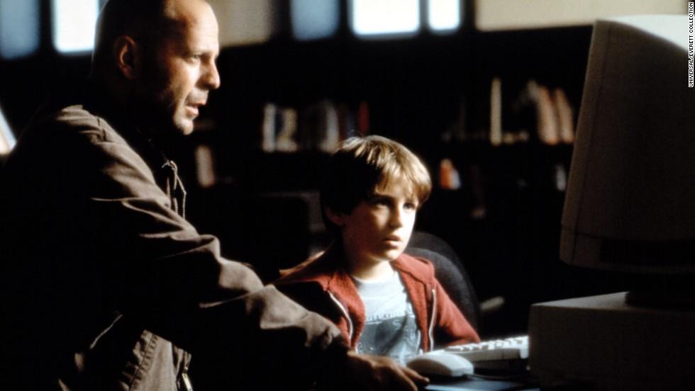 "Hughes costarred with Bruce Willis in the 1998 film ""Mercury Rising."""