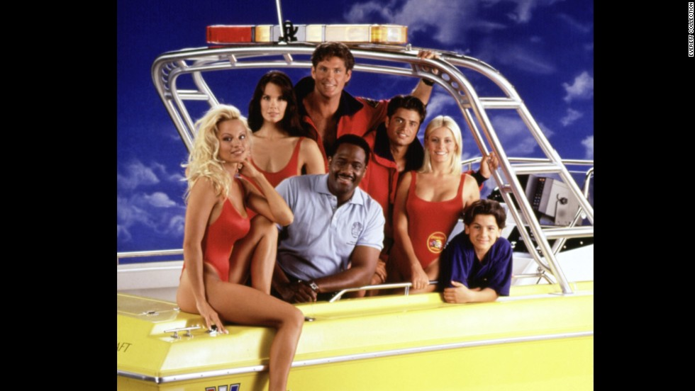 "Jackson appeared on the wildly popular series ""Baywatch"" and is seen here with Pamela Anderson, Alexandra Paul, Gregory Alan-Williams, David Hasselhoff, David Charvet, and Nicole Eggert."
