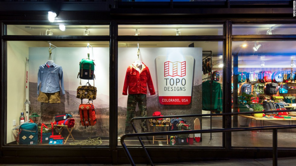 Like Ratio, Topo Designs started as an e-commerce business based in Denver and opened its Denver flagship store in 2013. Originally from Wyoming, its owners moved to Denver to launch their business because it had an existing cut and sew industry for outdoor gear.
