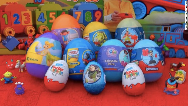 On YouTube, an unboxing video showing the toys inside Disney-themed Kinder Eggs has attracted more than 35 million views.