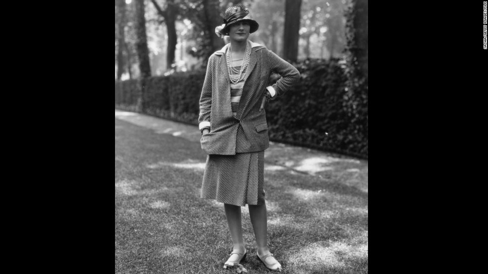 Casual, chic, Coco. The French designer's stylish suits -- pictured here in 1929 -- were part of a new era of comfortable fashion for women.