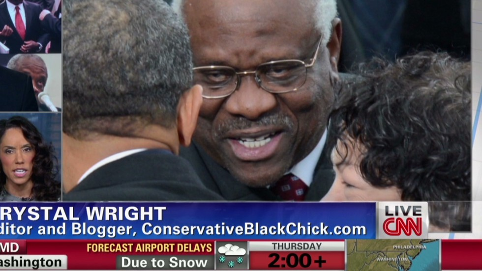 Justice Clarence Thomas breaks 10-year silence