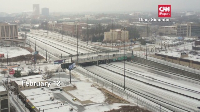 Atlanta highways were clear Wednesday, a far cry from two weeks ago when some motorists were stranded for 20 hours.