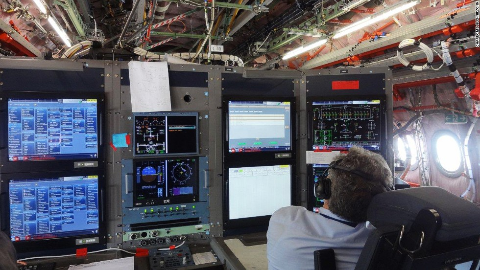 Flight control instruments on board the test A350 can transmit live data back to Airbus headquarters in Toulouse, France.