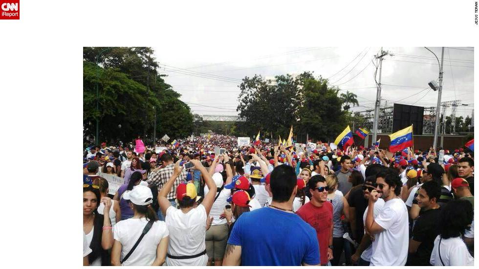 Se calcula que hubo entre 5.000 y 7.000 personas en las calles de Barquisimeto.