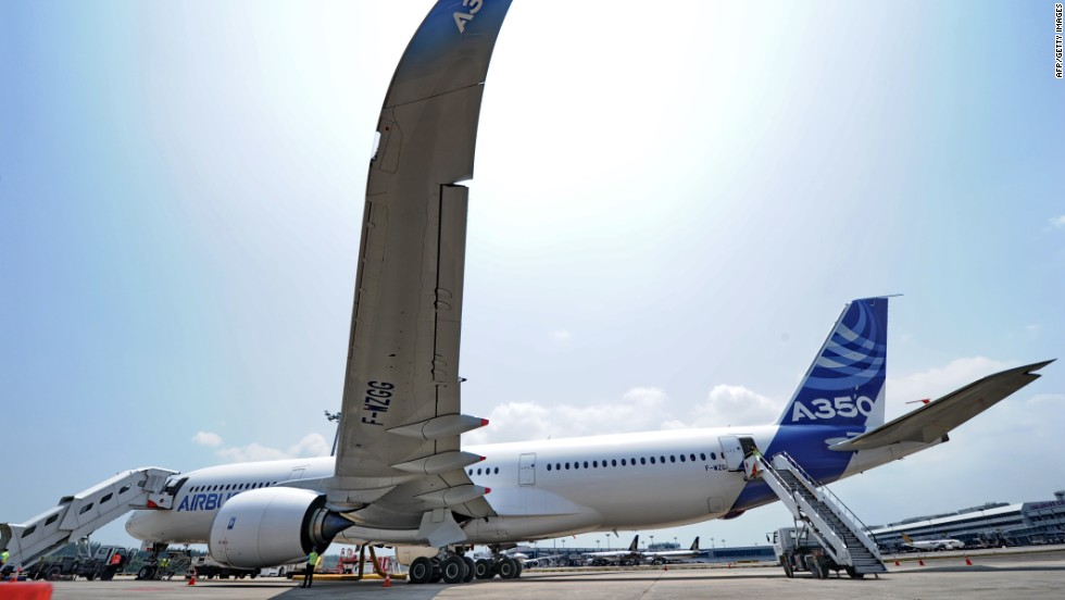 Airbus's fuel-efficient,  new wide-bodied jet is seen as a competitor to Boeing's Dreamliner.