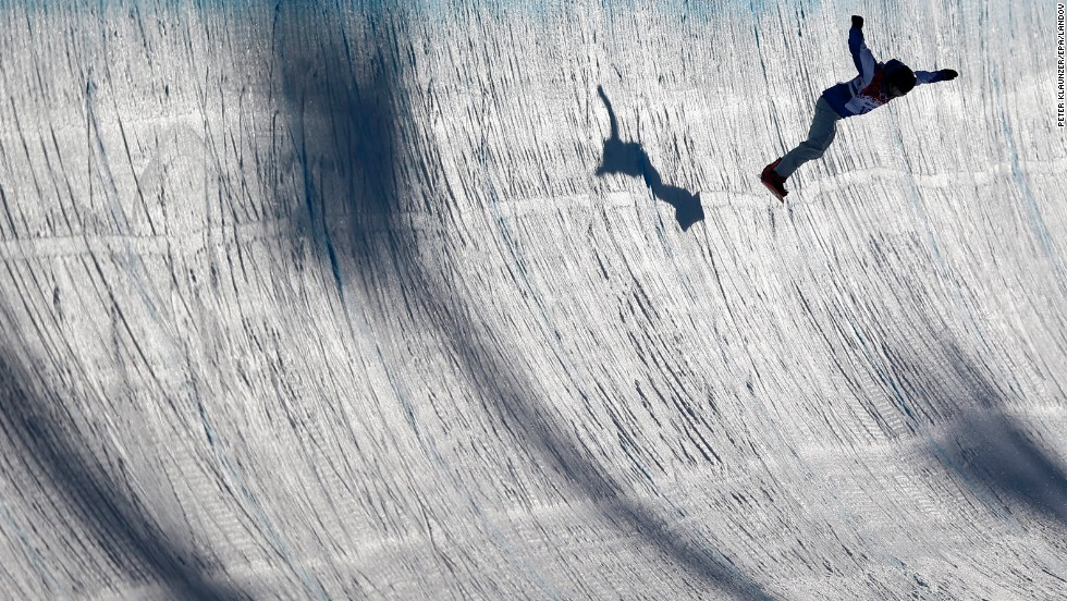 Mirabelle Thovex of France competes in the women's halfpipe on February 12.