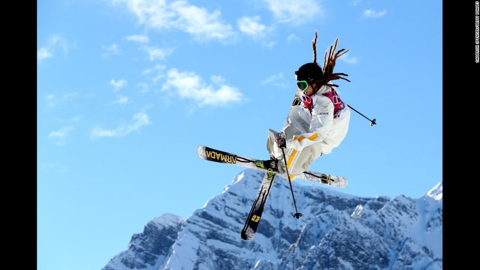 Skier Henrik Harlaut of Sweden competes in the men's slopestyle on February 13.