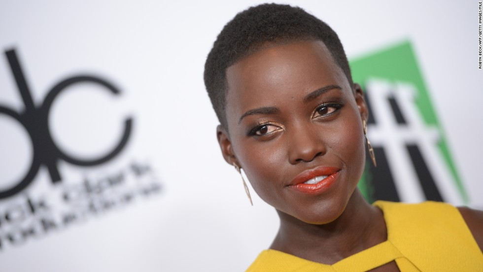 Nyong'o's striking looks have wowed audiences and critics, who have singled her out for her wardrobe and beauty.