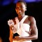 Lupita Nyong'o accepts the Critics' Choice Award for Best Supporting Actress