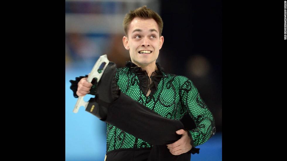Figure skater Paul Bonifacio Parkinson of Italy performs on February 13.