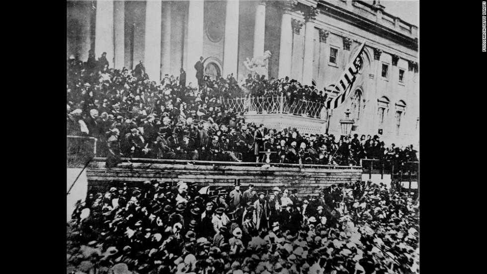 "The plot to topple Abraham Lincoln with the phony ""Miscegenation"" pamphlet failed. Tens of thousands of people, many of them African-Americans, attended and cheered his second inauguration on March 4, 1865. The Civil War and slavery were near an end, and Lincoln's address was somber and moving.<br />"