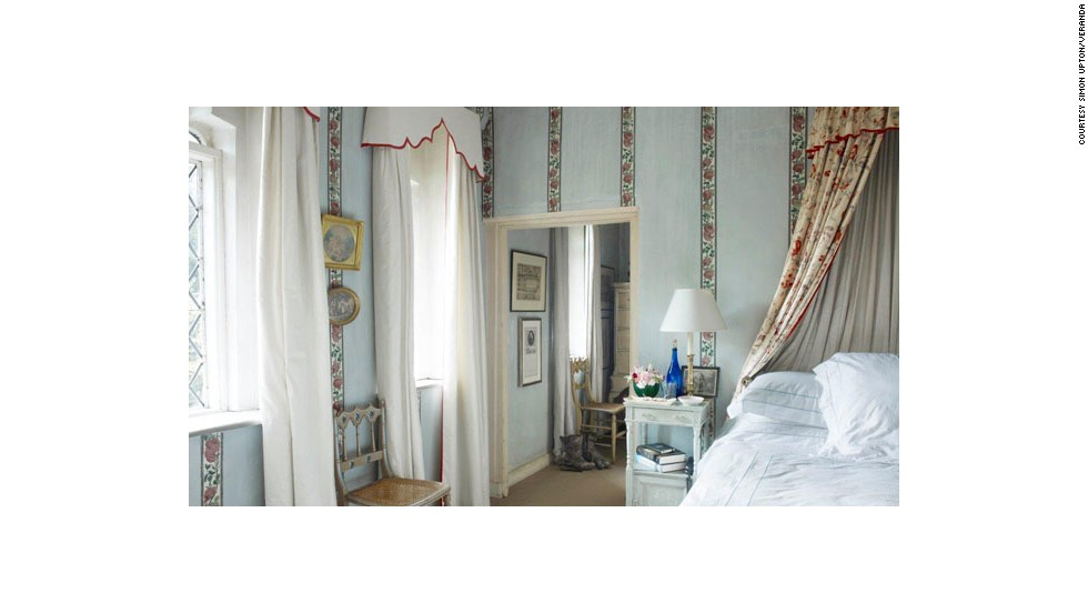 This bedroom, designed by Nicky Haslam, from the March/April 2013 issue of Veranda, features historic details that transport a guest away from the stressors of daily life.