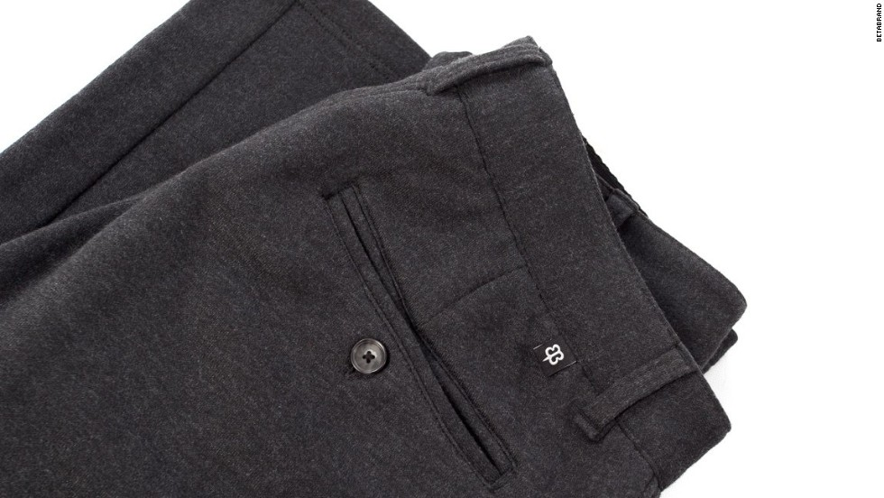Betabrand Dress Pant Sweatpants look just like normal work trousers. They have pockets and belt loops. But there's a party inside.