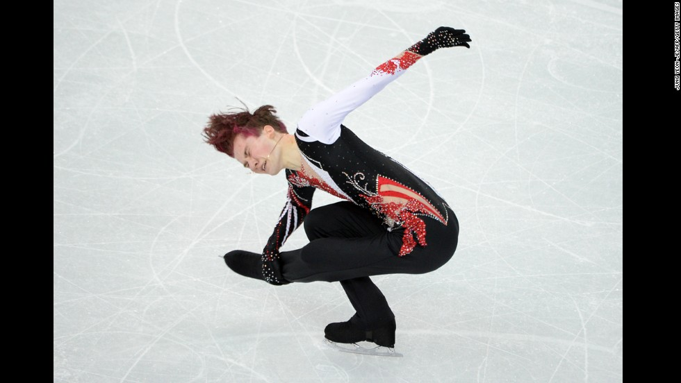 Uzbekistan's Misha Ge performs his free skate during the men's figure skating competition on February 14.