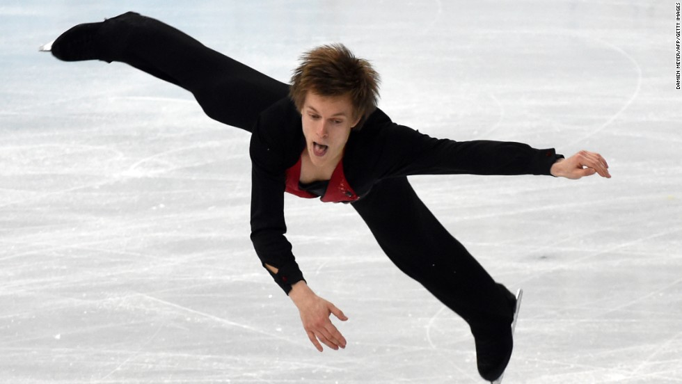 Czech figure skater Tomas Verner competes oon February 14.