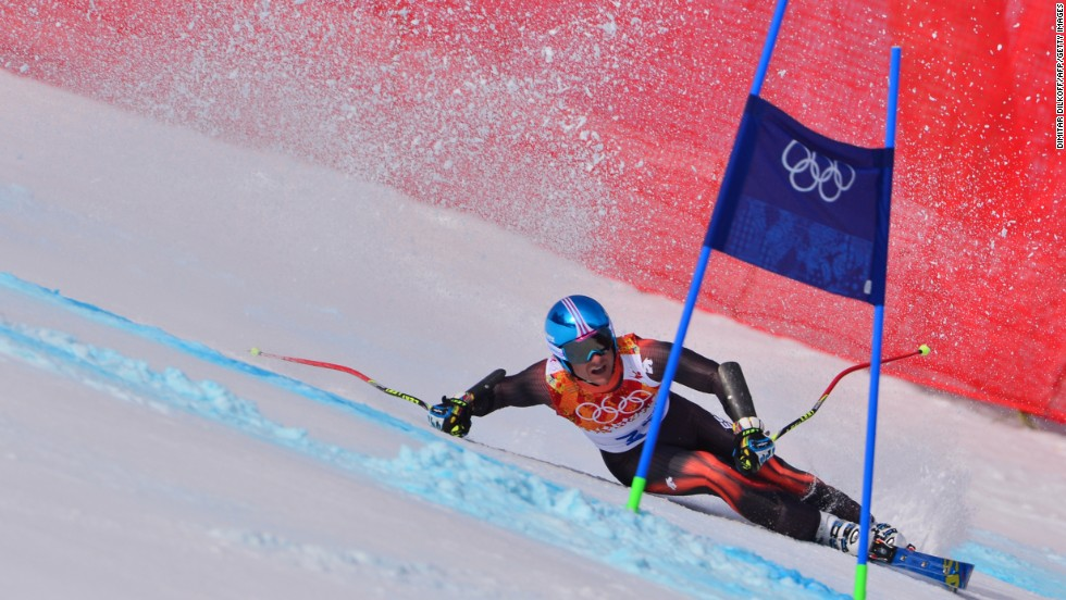 Spain's Paul de la Cuesta competes in the men's super-G on February 16.
