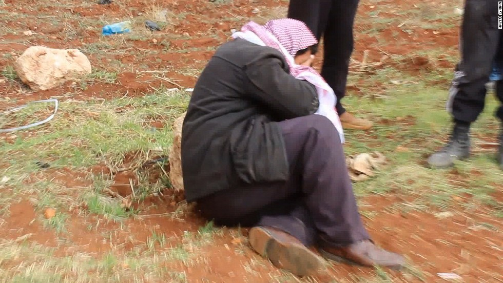 This man came to identify the bodies of his brothers.  He knew two of them were dead, but he had hoped that one was still alive and being held elsewhere by ISIS.