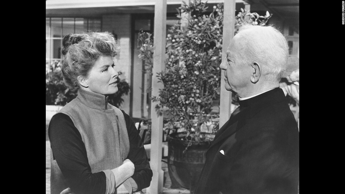 "Katharine Hepburn and Cecil Kellaway appear in a scene from ""Guess Who's Coming to Dinner."" Hepburn won her second Oscar more than 30 years after her first."