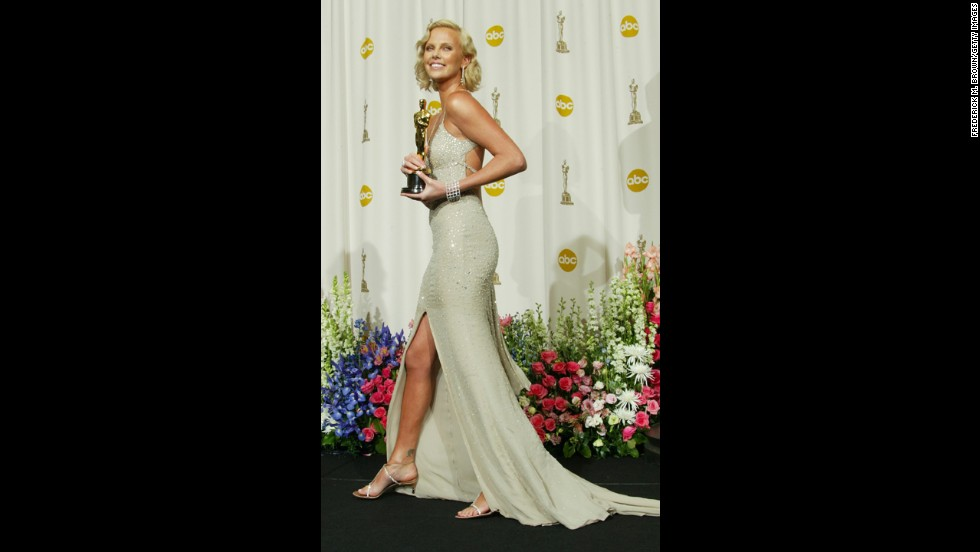 "Charlize Theron has had her fair share of awards season misses, but when she was up for the best actress Oscar in 2004, she made sure she got it right. After undergoing a physical transformation for her role in ""Monster,"" which won her the Academy Award, the actress oozed luxury and sparkled from head to toe."