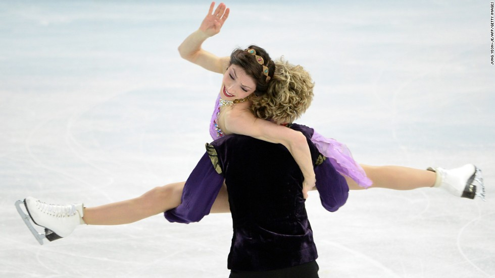 Davis and White perform their free dance. Their gold medal is the first ice dancing gold medal in American history.