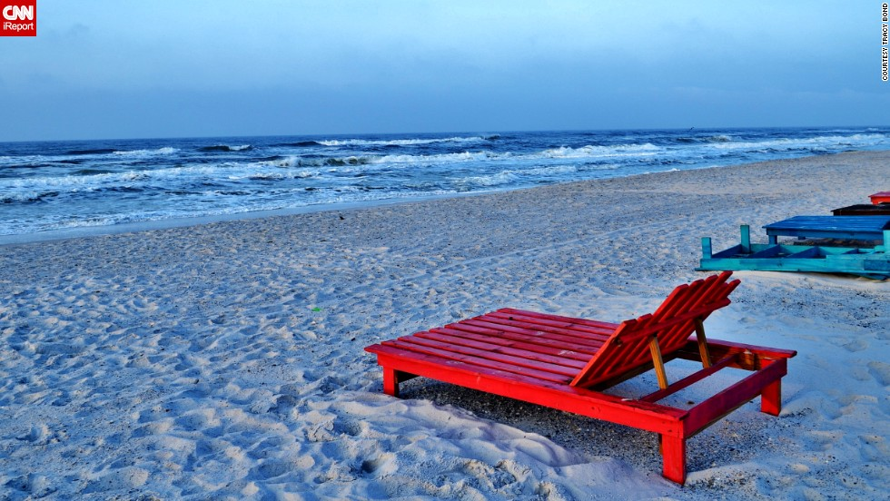 "Care to lounge? <a href=""http://ireport.cnn.com/docs/DOC-1078272"">Tracy Bond</a> took this photo at Topsail Hill Preserve State Park near Destin. ""Each sunrise or sunset is unique and beautiful."""